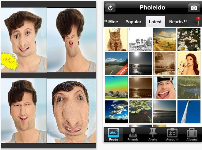 Pholeido smartphone app