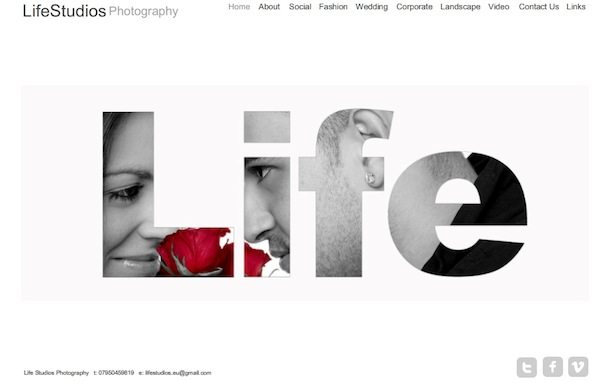 Photography site template