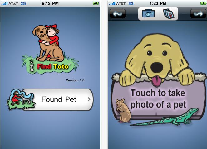smartphone lost pet finder