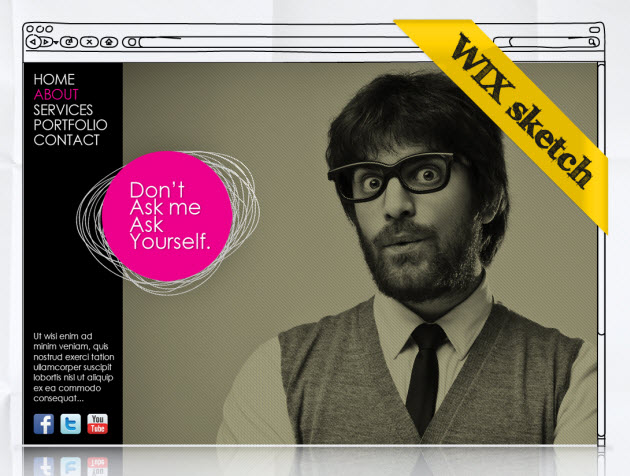 Hot WebDesign Trends -One Page Layout and Color Spot Wix Design