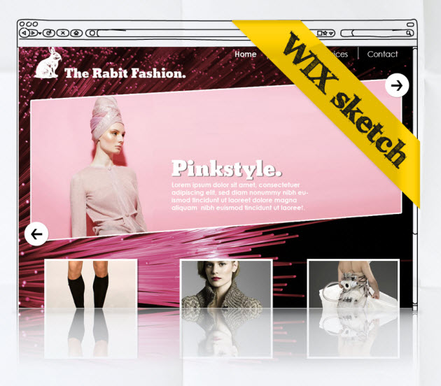 Hot Web Design Trends: Dynamic Header Wix website