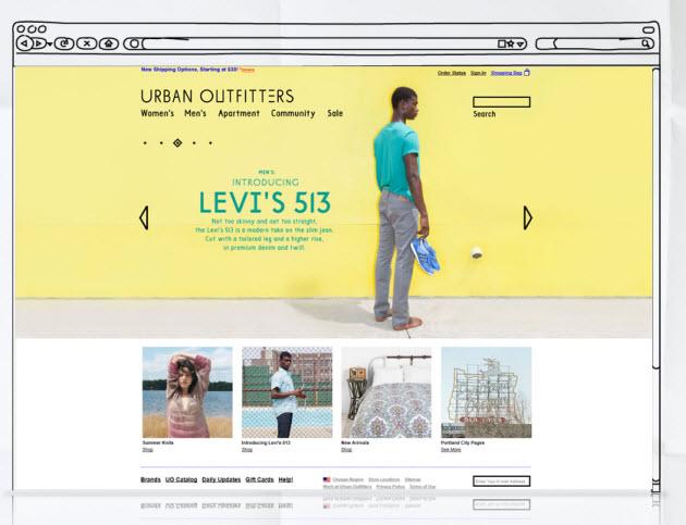 Hot Web Design Trends - Dynamic Header Example 2