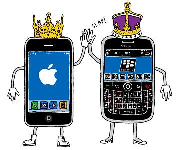 Ilustración de dos Smartphones