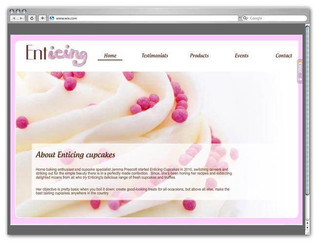 Enticing Cupcakes site