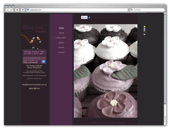 Blossom Cupcakes site