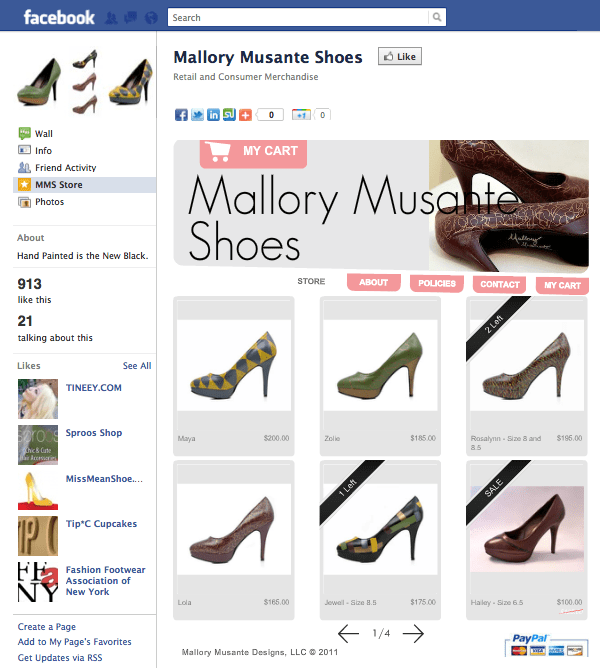 Mallory Musante-Shoes Página de Facebook