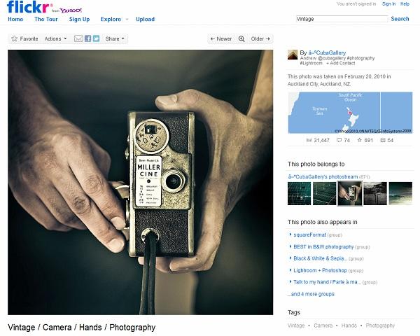 Sitio Flickr