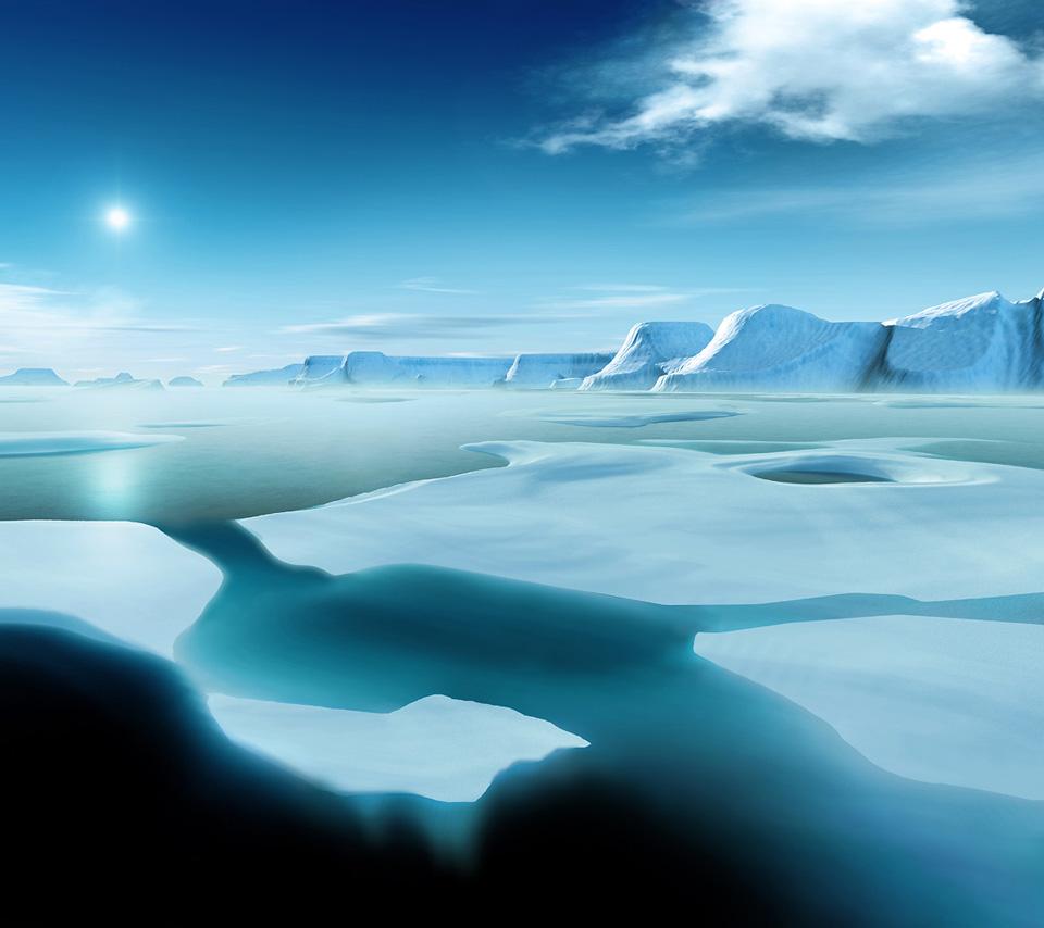 Islotes de hielo en Polo Norte
