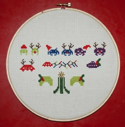 Space-Invader-Christmas-Needle-Point-Pattern