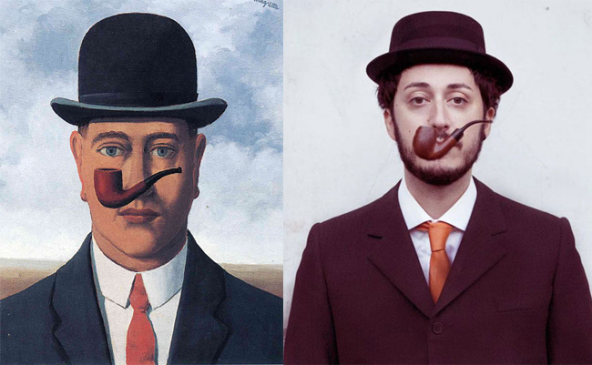"""La bonne foi"" by Magritte, remade by Noemi Mazzucchelli"