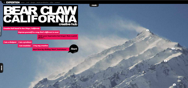 Bear Claw California website