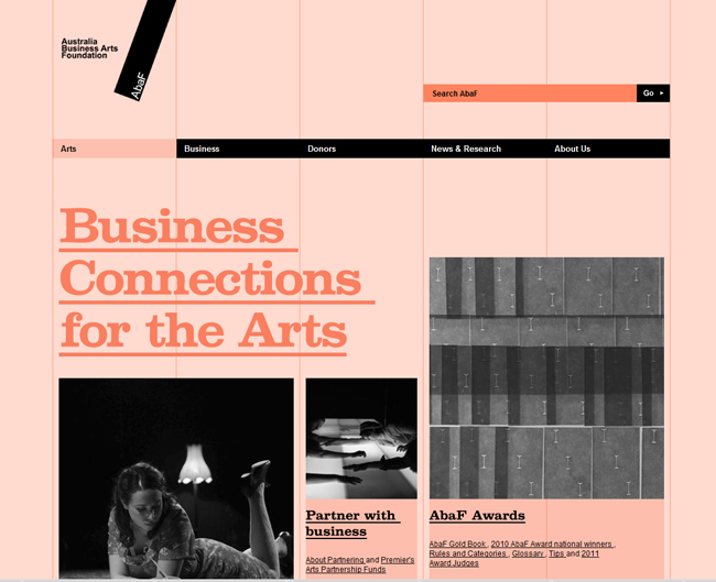Australian business arts foundation website