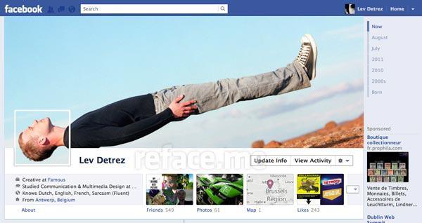 Lev Detrez FB Timeline design