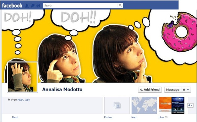 Analiza Thumb FB Timeline design