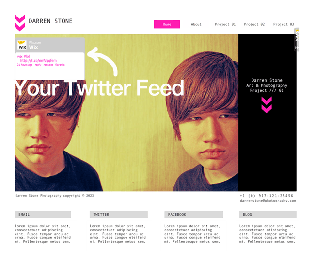 How to Add Your Twitter Feed to Your Wix Site