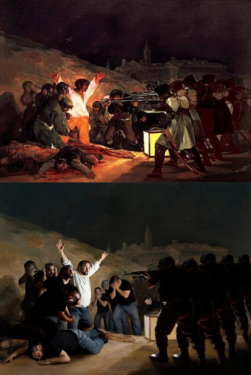 "Goya ""The Shootings of May Third"" 1808 Remake by Marian Lucas"