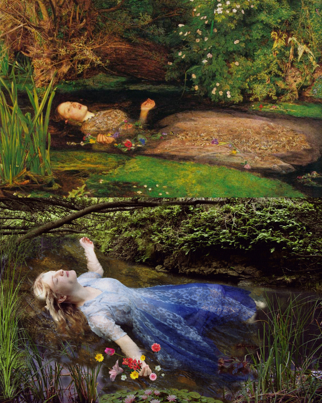 Tate Millais Ophelia Remake by Stephanie Morin