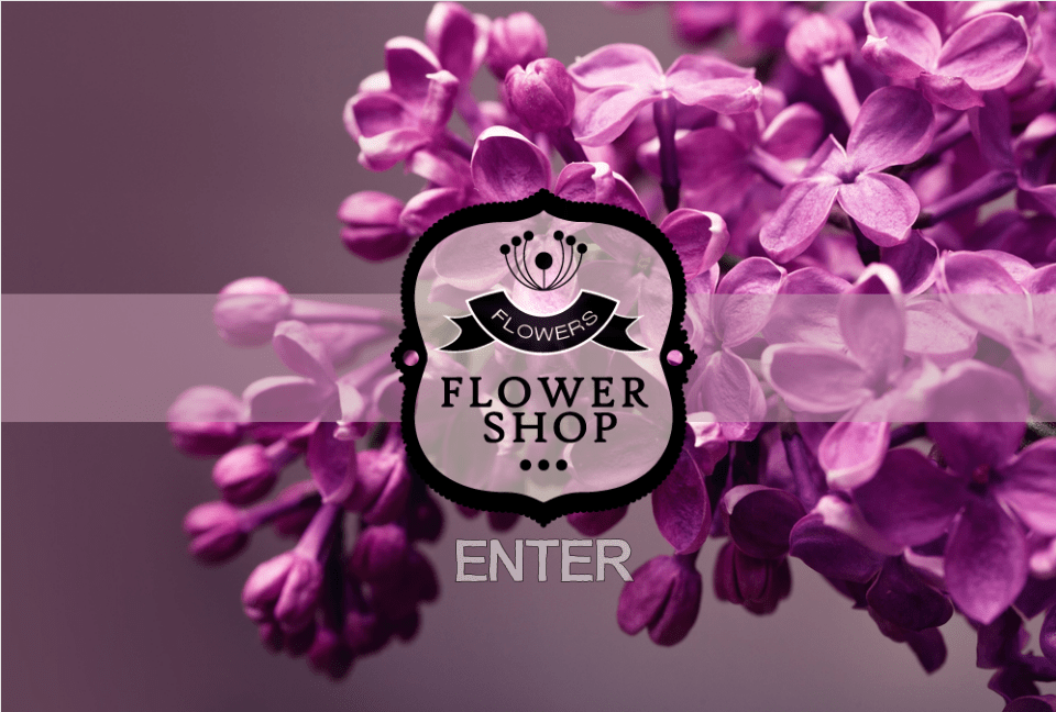 Flower Shop Welcome/Landing page