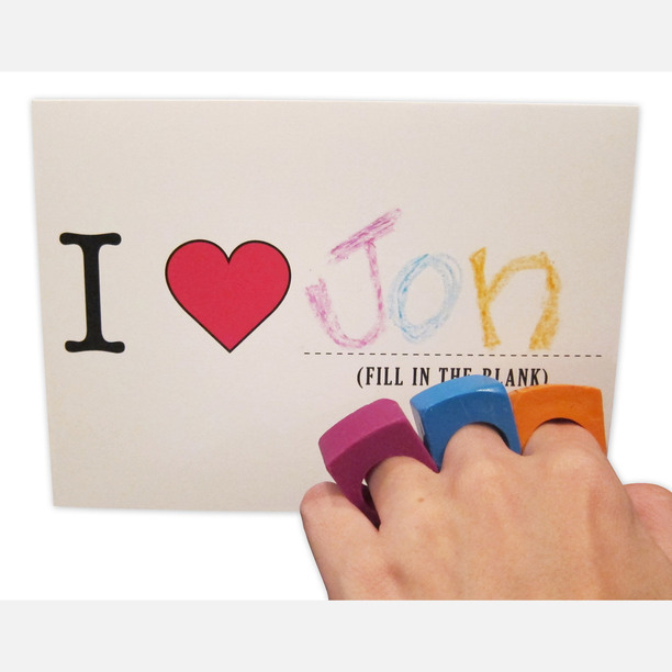 Cards With Crayon Rings 12Pk