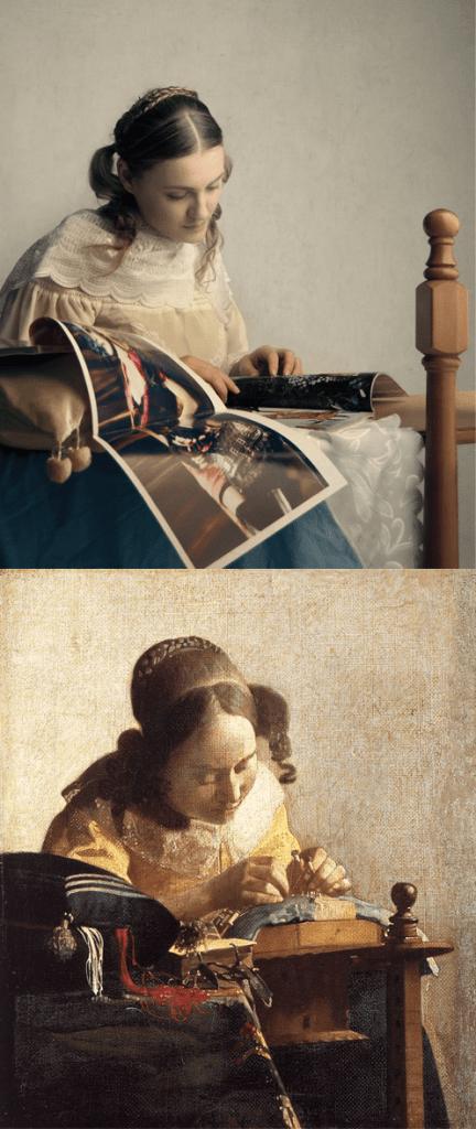 Jan Vermeer, 'The Lacemaker' Remake By Halina Garycka