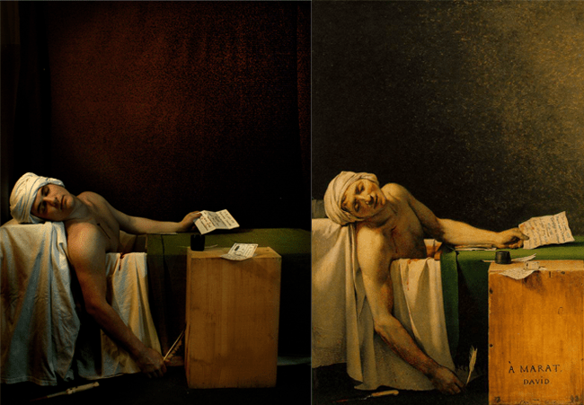"Jacques Luis David, ""The Death of Marat"" Remake By Val Eyglier"