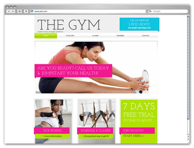 Wix HTML5 Gym Club Template