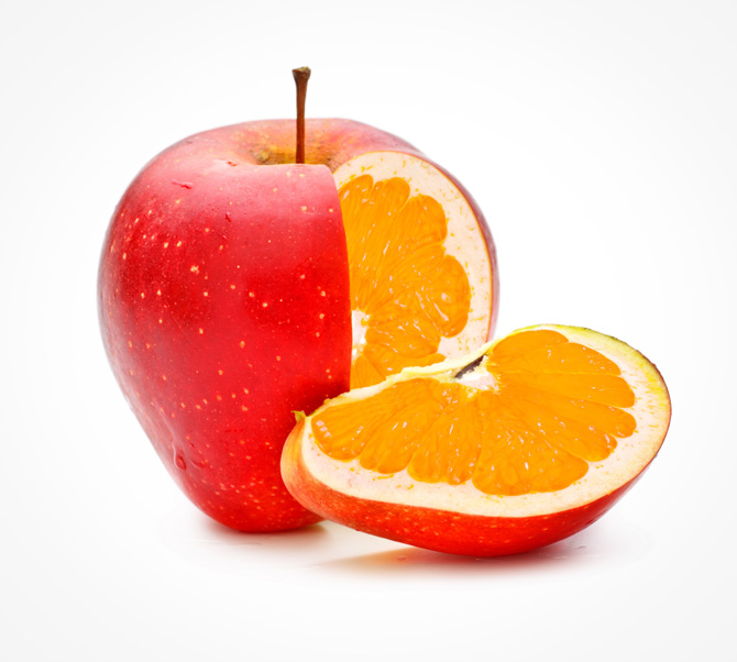 """There are such things as """"apples & oranges"""""""