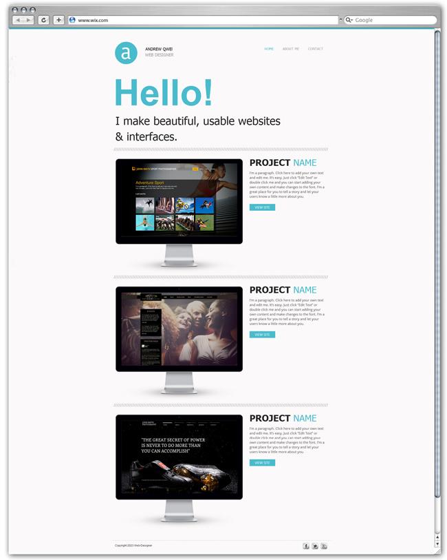 wix Web Portfolio Template
