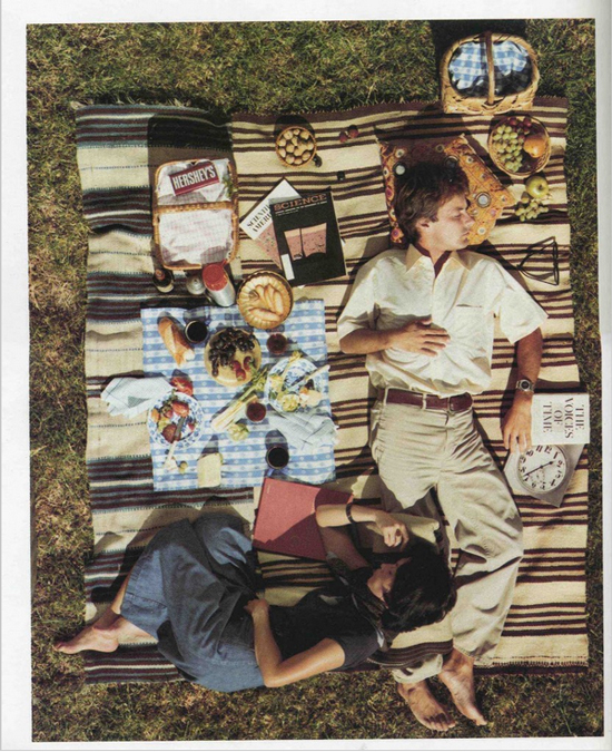 1970s picnic fashions; photo from September 1976 issue of Scientific American