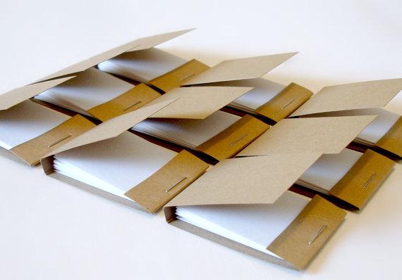 Mini kraft matchbook style notepads