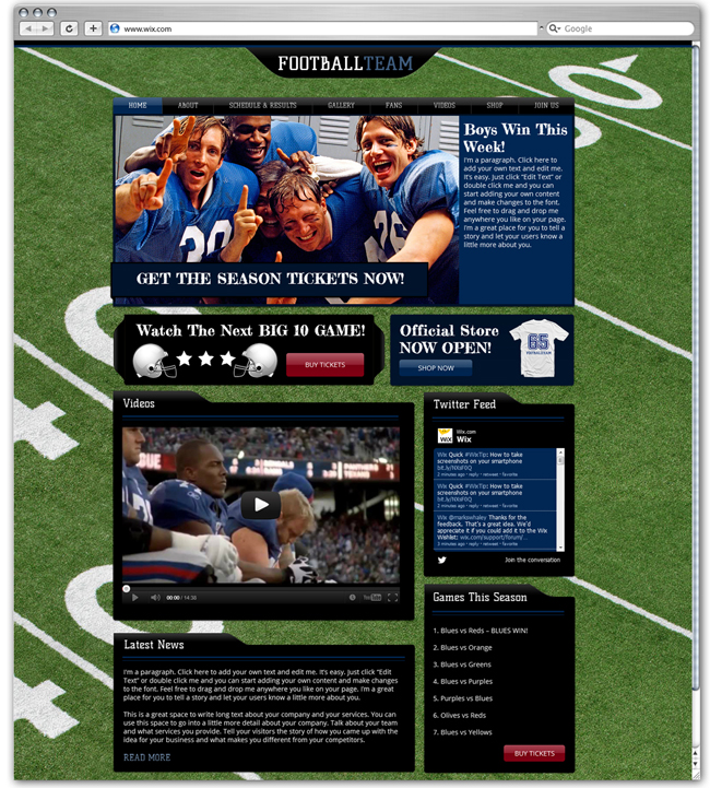 Sports News Template