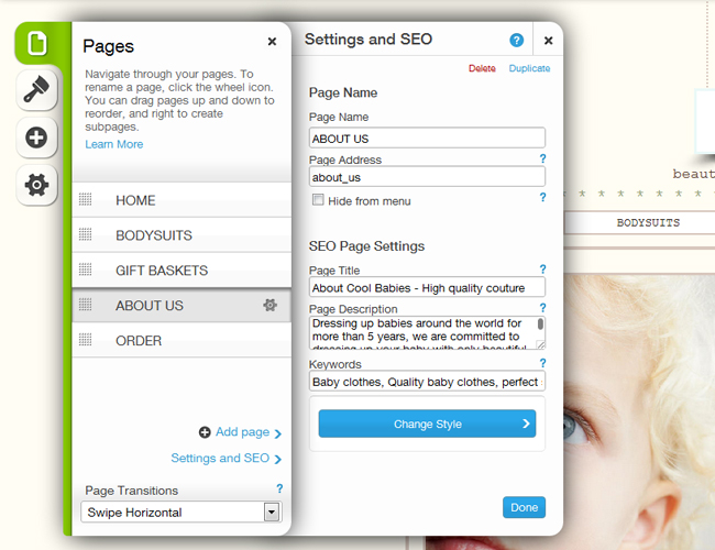 How to Customize SEO Settings for Each Wix  Website Page Details