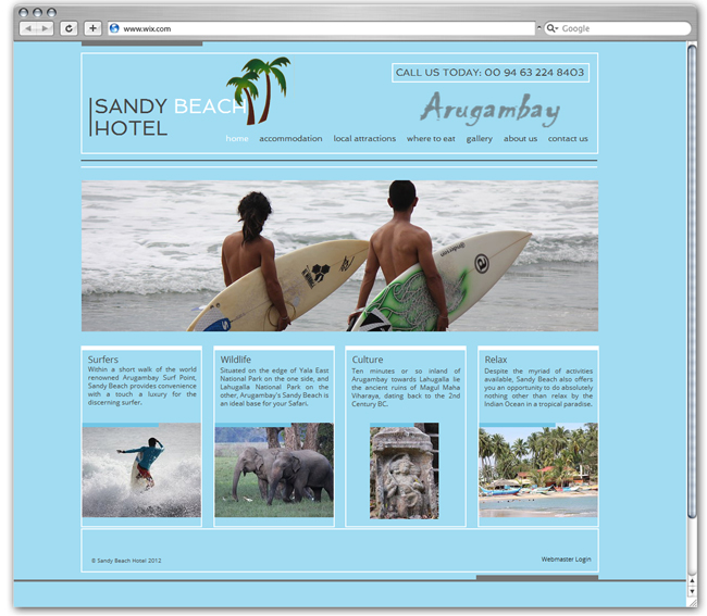 Arugambay Sandy Hotel | Sri Lanka