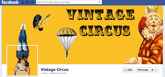 Facebook Cover By Vintage Circus