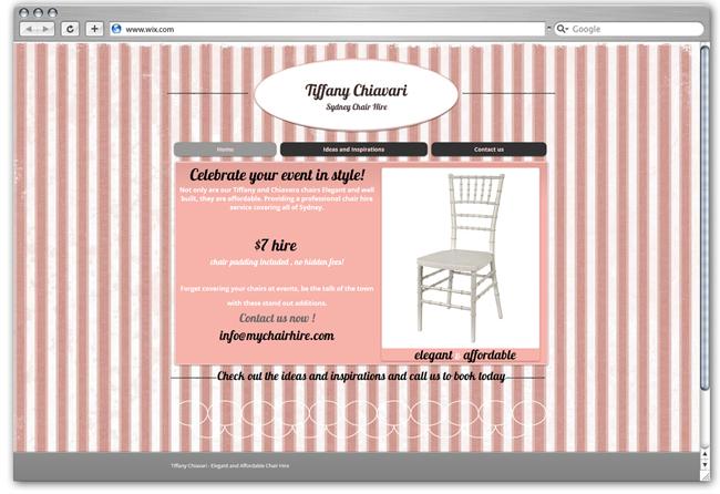 Tiffany Chiavari Sydney Chair Hire