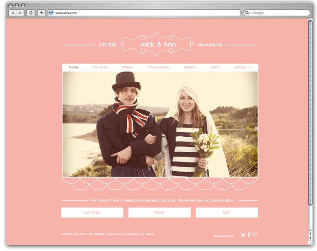 Wix Wedding Website Template