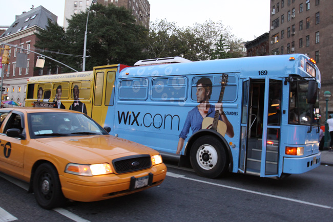 The Wix Bus in the streets of NYC