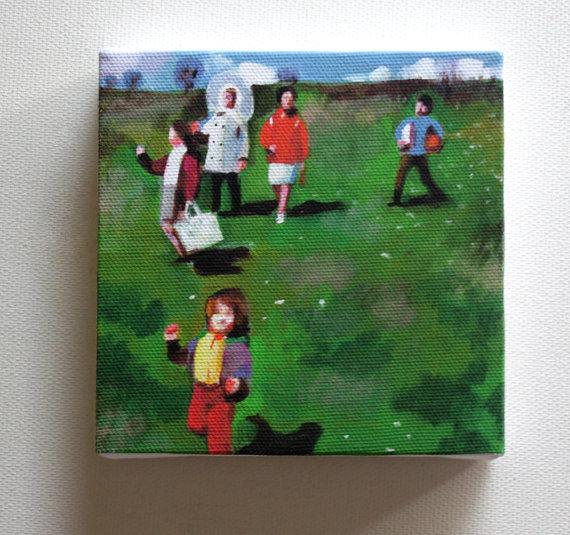 Family trip Tiny canvas print