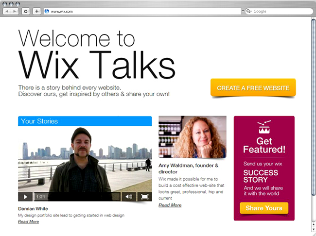 Get your business featured on Wix Talks