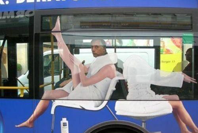 perfectly timed photos man on a bus
