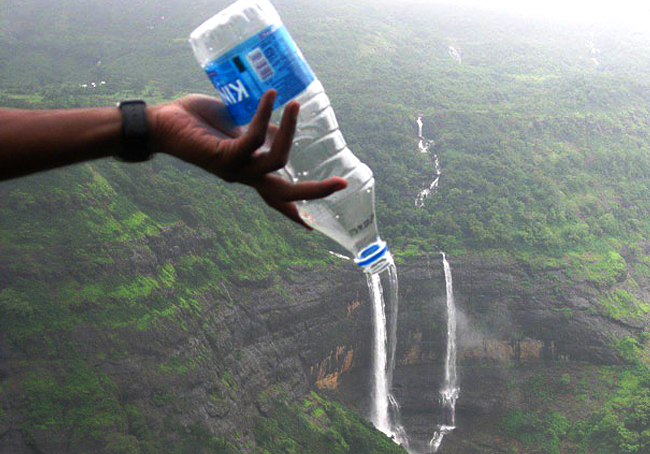 perfectly timed photos waterfall