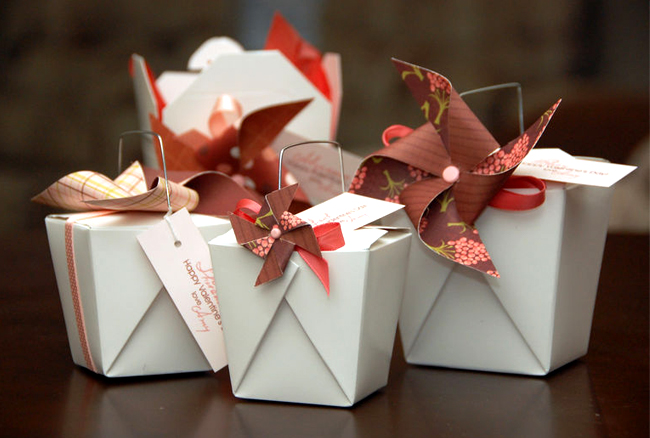 take out box as a gift box