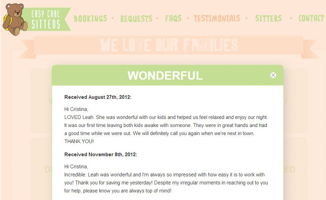 Adding Testimonials to your Website