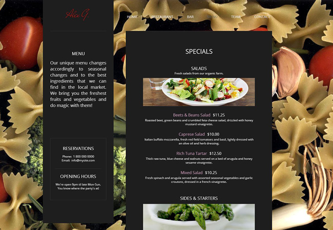 Wix Apps for Restaurant Websites