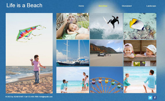 Create a Free Online Family Summer Album with Wix