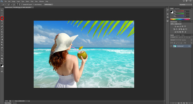 Creating a Photoshop suntan
