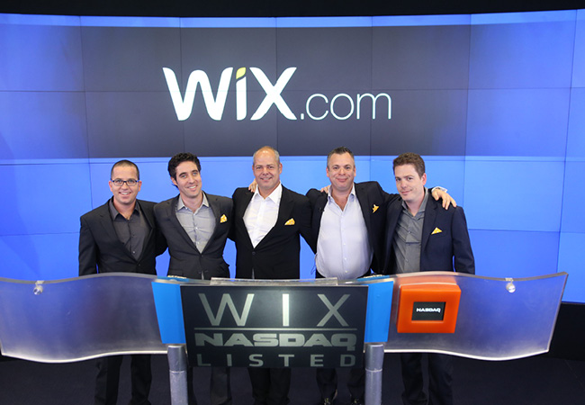 Wix' CEO, Avishai Abrahami, CMO, Omer Shai, President & COO, Nir Zohar, Co-Founder and CTO, Giora (Gig) Kaplan and Co-Founder & VP Client Development, Nadav Abrahami