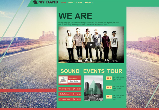 My Band Wix Template