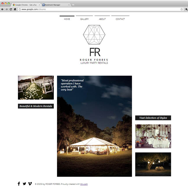 Luxury Party Rentals - Template