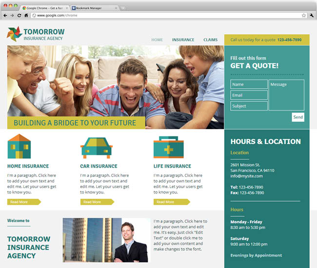 Insurance Agency Template